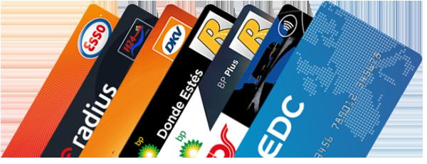 Compare las tarjetas BP, EC y ESSO