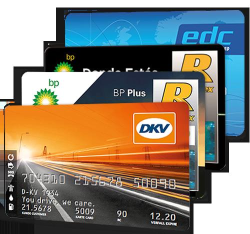 Tarjetas de repostaje BP Plus, BP Donde Estés, EDC y ESSO Europa